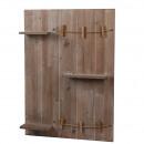 Mur en bois avec 3 étagères, L50cm, B9cm, H70cm, n